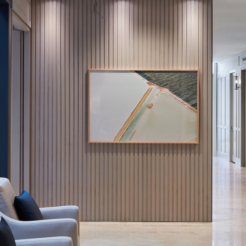 emmy monash aged care art corridor with art objects and furniture by origami solutions