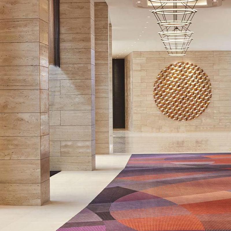 crown towers perth ballroom function room circulation corridor custom carpet design by junko windust